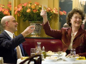 "Stanley Tucci as ""Paul Child"" and Meryl Streep as ""Julia Child"""
