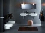 szara łazienka