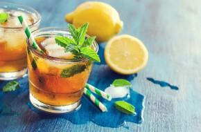 ice tea z miętą